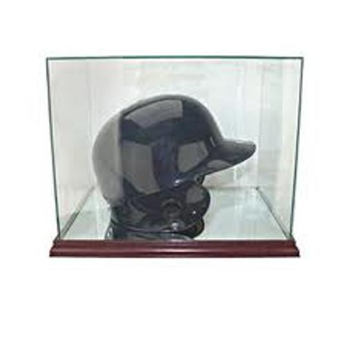 Deluxe Real Glass Batting Helmet Rectangle Display Case