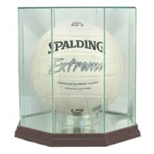 Deluxe Real Glass Volleyball Display Case