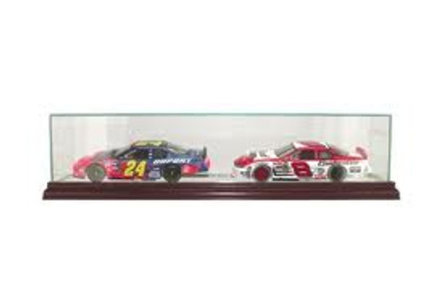 Deluxe Real Glass Double Nascar 1/ 24th Display Case