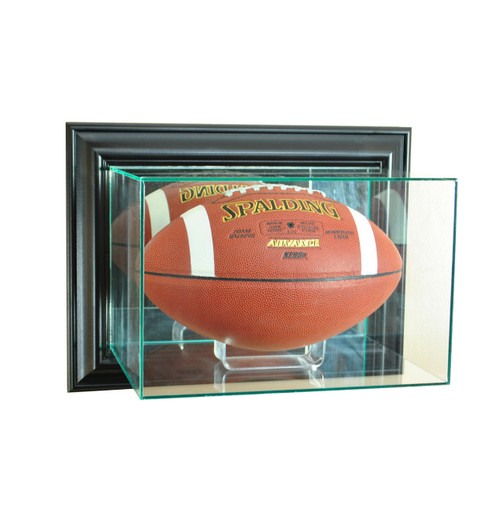 Deluxe Real Glass Wall Mounted Football Display Case