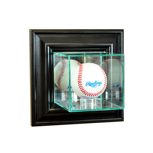 Deluxe Real Glass Wall Mounted Baseball Display Case