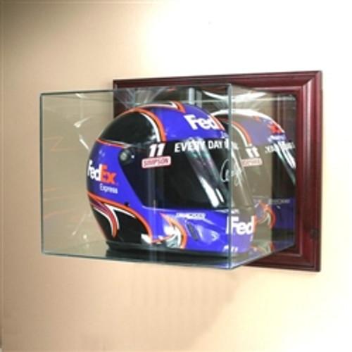 Deluxe Real Glass Wall Mounted Racing Helmet Display Case