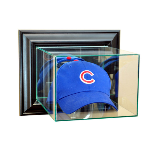 Deluxe Real Glass Wall Mounted Cap / Hat Display Case