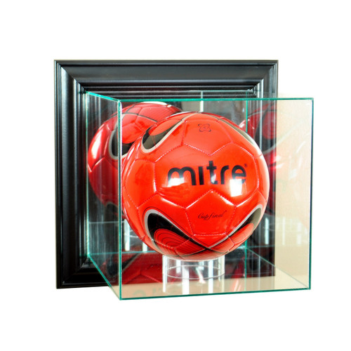 Deluxe Real Glass Wall Mounted Soccer Display Case