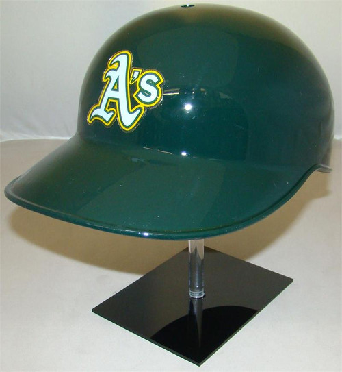 Oakland A's Green Road Rawlings Classic NEC Full Size Baseball Coaches or Catchers Helmet