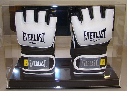 New Deluxe Double UFC / MMA Fight Glove Display Case with Mirror