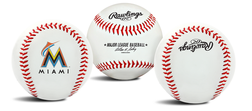"Miami Marlins Rawlings ""The Original"" Team Logo Baseball"