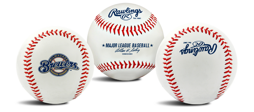 "Milwaukee Brewers Rawlings ""The Original"" Team Logo Baseball"