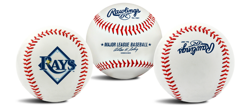 "Tampa Bay Rays Rawlings ""The Original"" Team Logo Baseball"
