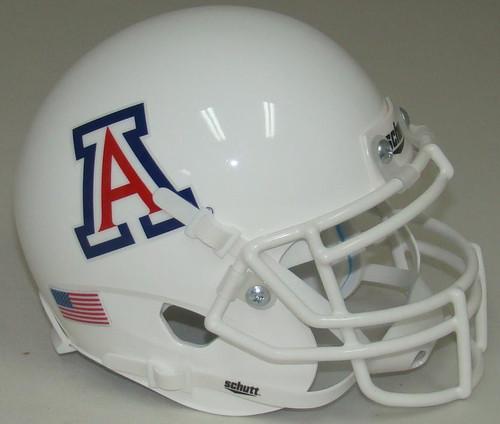 Arizona Wildcats Alternate All White Schutt Mini Authentic Football Helmet