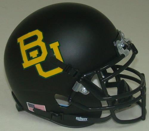 Baylor Bears Matte Black Schutt Mini Authentic Football Helmet