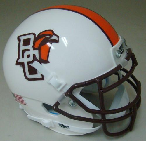 Bowling Green Falcons Alternate White Schutt Mini Authentic Football Helmet