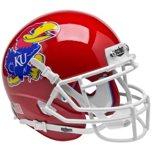 Kansas Jayhawks Alternate Red Schutt Mini Authentic Football Helmet