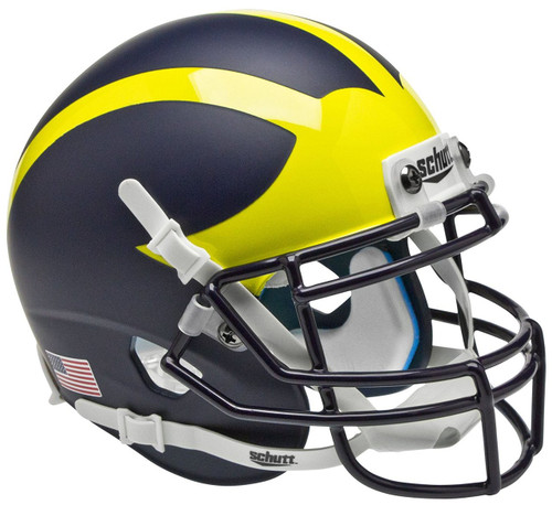 Michigan Wolverines Alternate Matte Schutt Mini Authentic Football Helmet