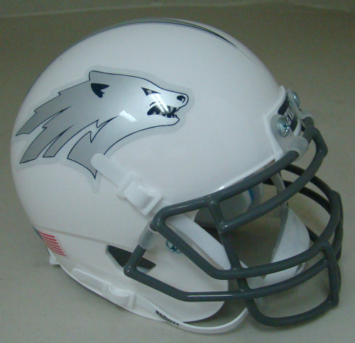 Nevada Reno Wolfpack Alternate White Schutt Mini Authentic Football Helmet