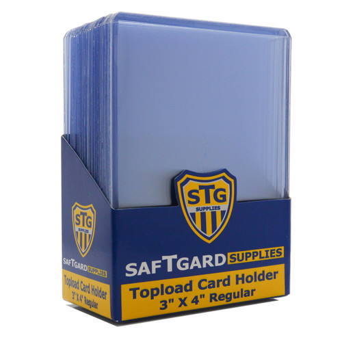 1 full case of 1000 Standard 3 x 4 inch Toploaders STG
