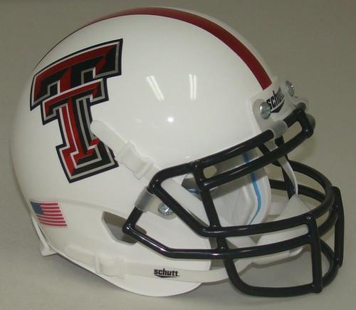 Texas Tech Red Raiders Alternate White and Red Stripe Schutt Mini Authentic Helmet