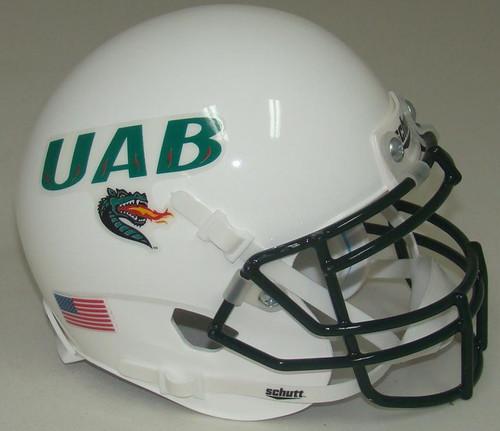 UAB Alabama-Birmingham Blazers Alternate White Schutt Mini Authentic Football Helmet
