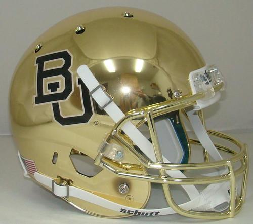 Baylor Bears GOLD CHROME Schutt Full Size Replica XP Football Helmet