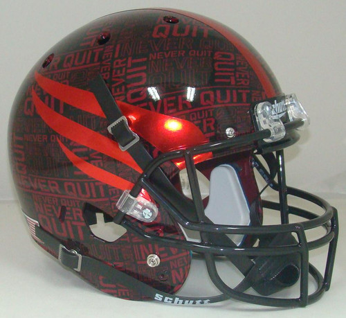 Texas Tech Red Raiders Alternate NEVER QUIT / LONE SURVIVOR Schutt Full Size Replica XP Football Helmet