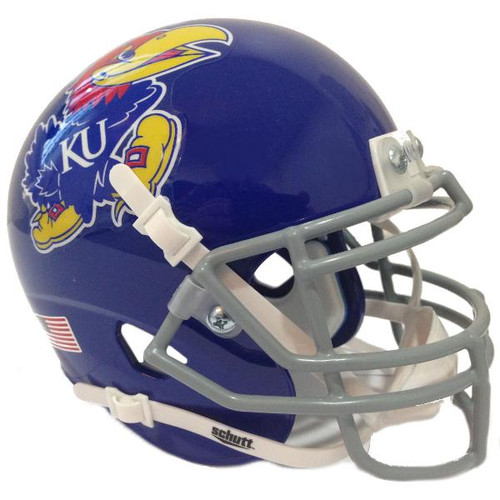 Kansas Jayhawks Blue Schutt Mini Authentic Football Helmet