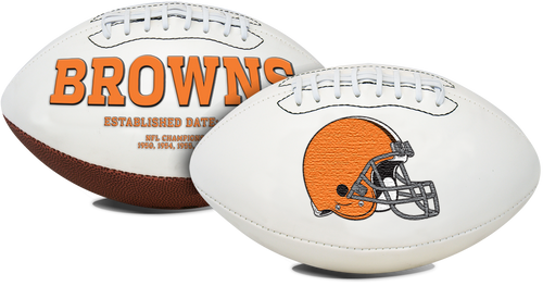 Signature Series NFL Cleveland Browns Autograph Full Size Football