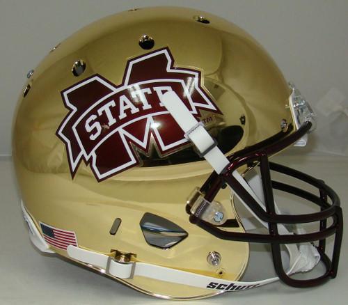 Mississippi State Bulldogs Alternate CHROME Schutt Full Size Replica XP Football Helmet