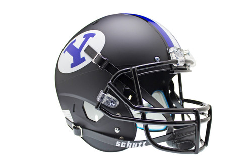 Brigham Young BYU Cougars Alternate Black Schutt Full Size Replica XP Football Helmet