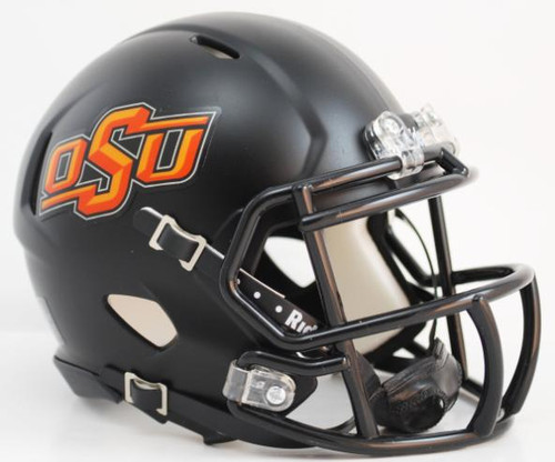 Oklahoma State Cowboys Alternate Black NCAA Riddell Speed Mini Helmet