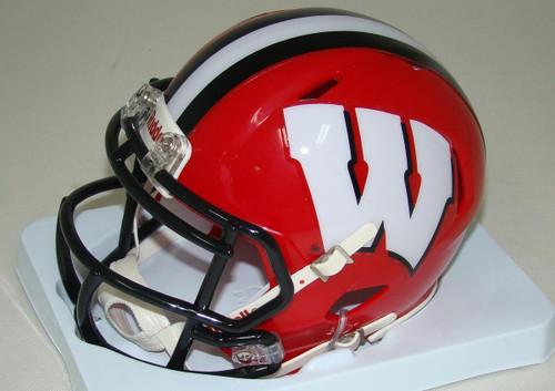 Wisconsin Badgers Alternate Red 2014 NCAA Revolution SPEED Mini Helmet