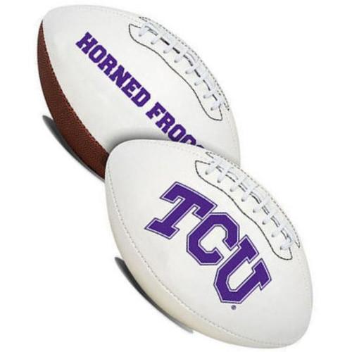 Signature Series NCAA Texas Christian TCU Horned Frogs Autograph Full Size Football