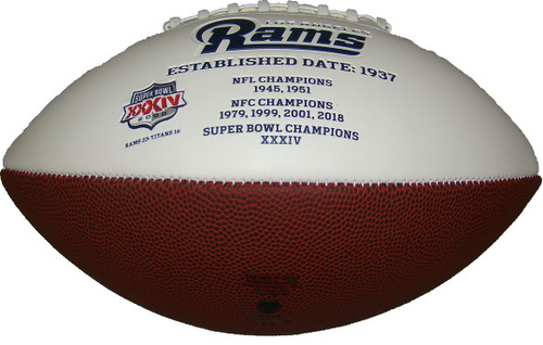 Signature Series NFL Los Angeles Rams Autograph Full Size Football