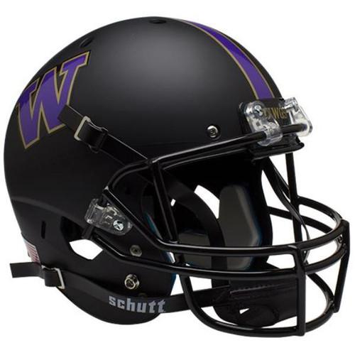 Washington Huskies Alternate BLACK Schutt Mini Authentic Football Helmet