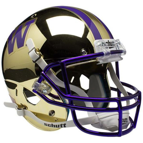 Washington Huskies Alternate CHROME Schutt Mini Authentic Football Helmet