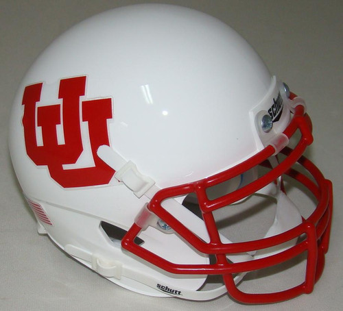 Utah Utes Alternate White UU Schutt Mini Authentic Football Helmet