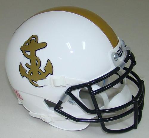 Navy Midshipmen Alternate White Schutt Mini Authentic Football Helmet