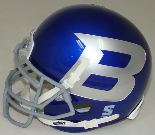 Boise State Broncos Alternate Blue B Schutt Mini Authentic Football Helmet