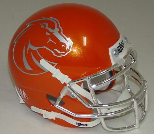 Boise State Broncos Alternate Orange Chrome Schutt Mini Authentic Football Helmet