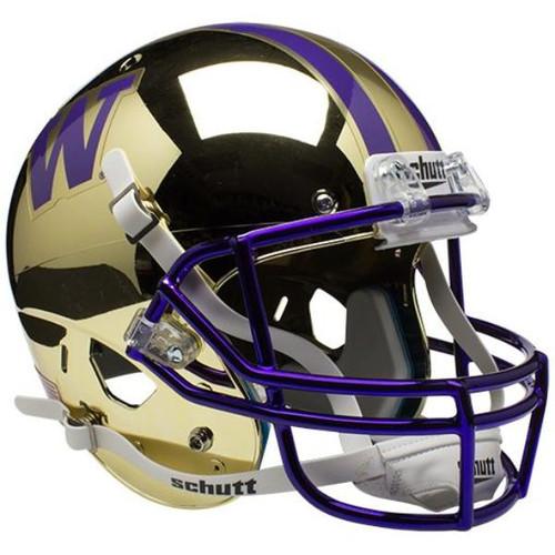Washington Huskies Alternate Chrome Schutt Full Size Replica XP Football Helmet