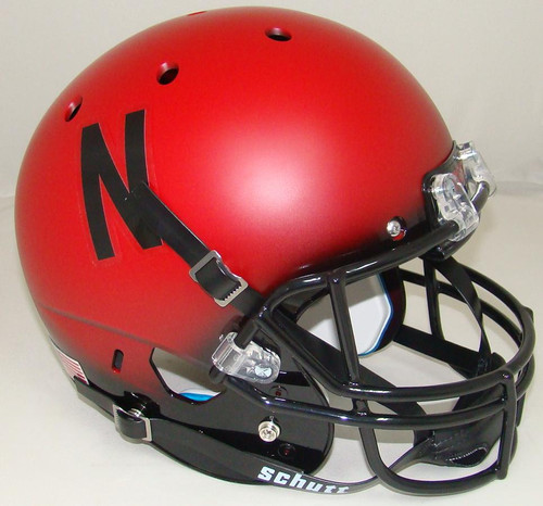 Nebraska Cornhuskers Alternate Scarlet Black Fade Schutt Full Size Replica XP Football Helmet