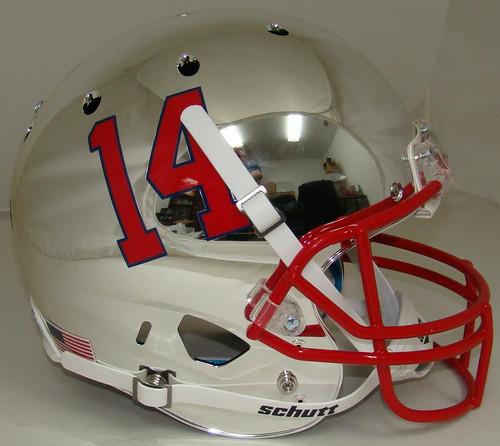Fresno State Bulldogs Alternate Chrome Schutt Full Size Replica XP Football Helmet