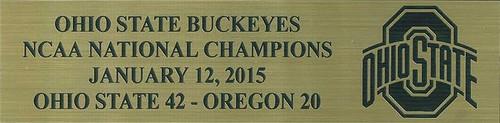 Ohio State Buckeyes 2015 National Champions Football Display Case