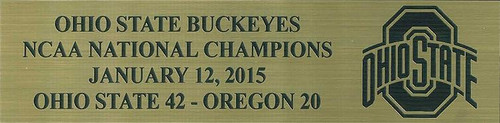 Ohio State Buckeyes 2015 National Champions Full Size Football Helmet Display Case