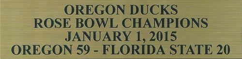 Oregon Ducks 2015 Rose Bowl Champions Football Display Case