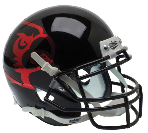 Louisville Cardinals Alternate Black Schutt Mini Authentic Football Helmet