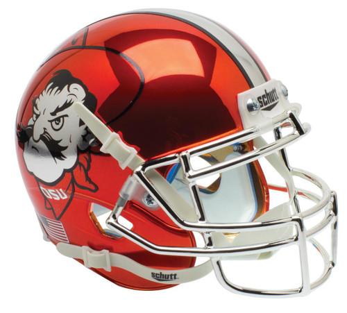 Oklahoma State Cowboys Orange CHROME Pistol Pete Schutt Mini Authentic Football Helmet
