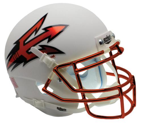Arizona State Sun Devils White Orange Chrome Alternate Schutt Mini Authentic Football Helmet