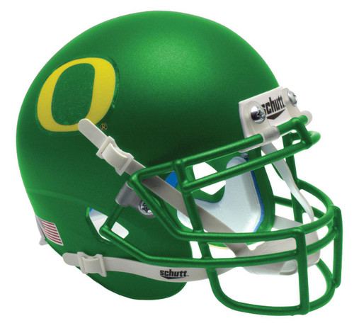 Oregon Ducks Apple Green Alternate Schutt Mini Authentic Football Helmet