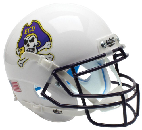 East Carolina Pirates Alternate White Schutt Mini Authentic Football Helmet