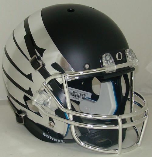 Oregon Ducks Alternate Black Chrome Wings Schutt Full Size Replica XP Football Helmet